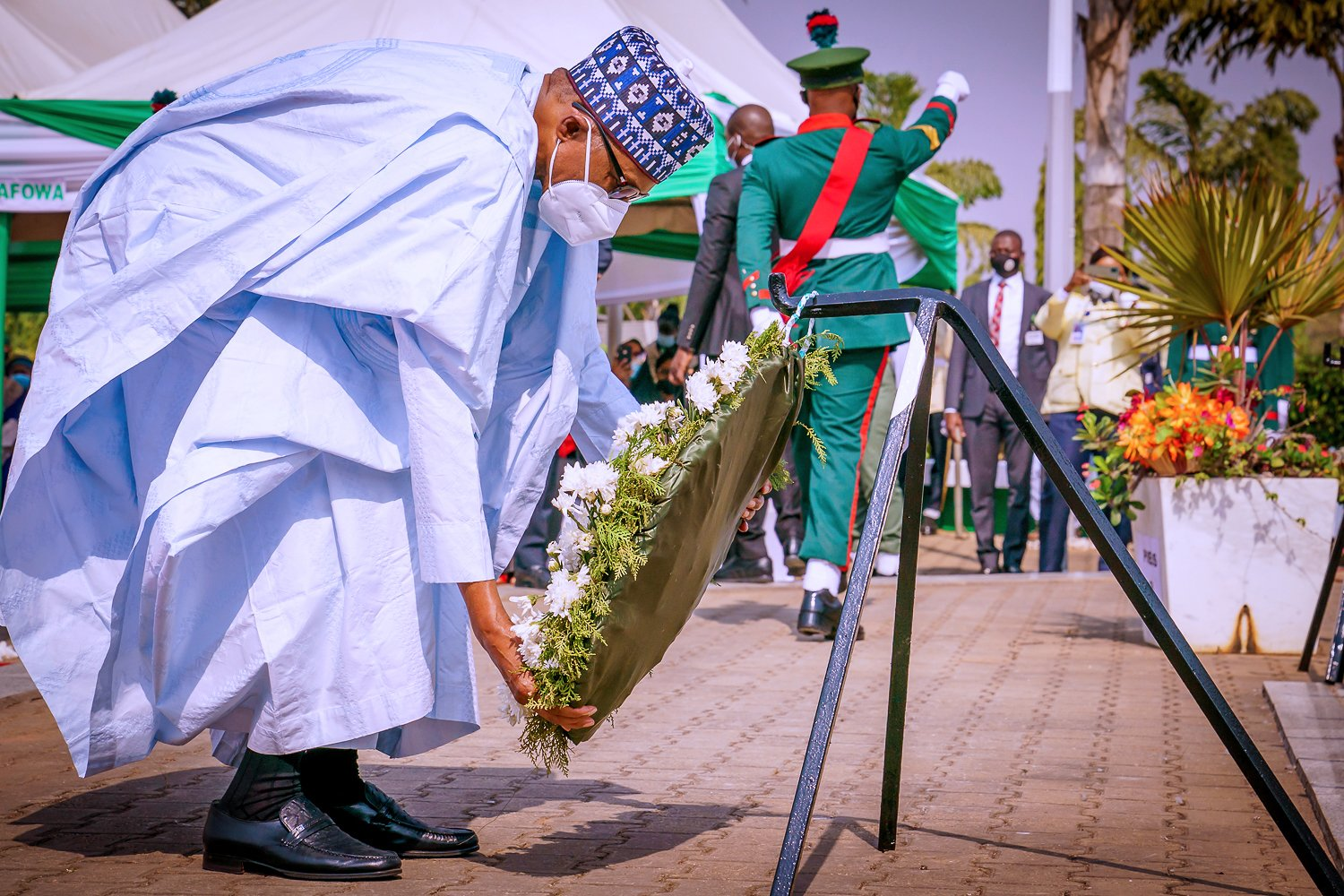 Buhari Participates At The Wreath Laying Ceremony Of 2021 Ar