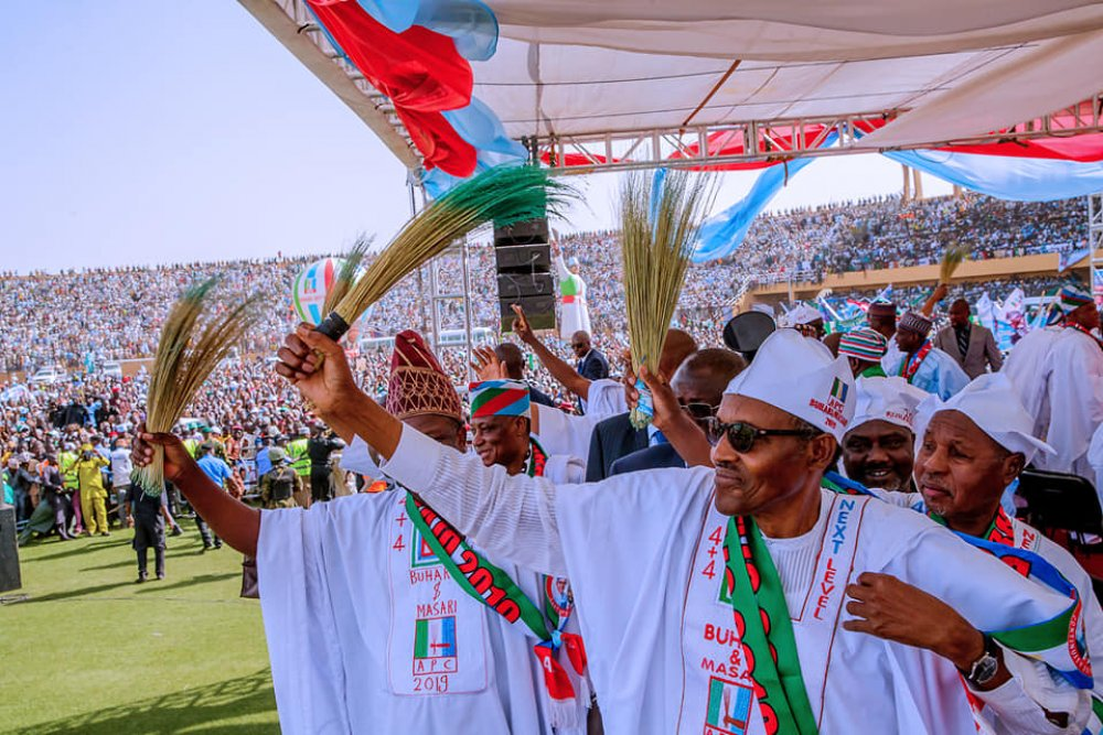 Buhari others jubilating after 2019 Presidential election victory