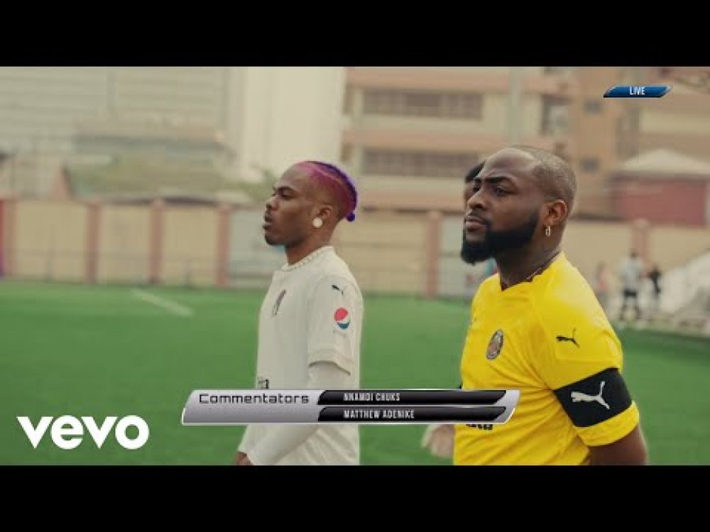 Davido The Ronaldo In 'La La' Music Video Ft CKay