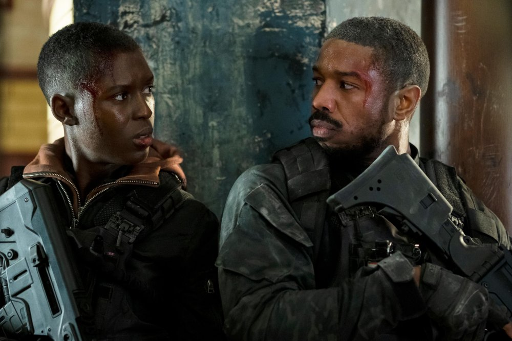 Jodie Turner-Smith and Michael B. Jordan in WITHOUT REMORSE/Image Source: Digital Spy