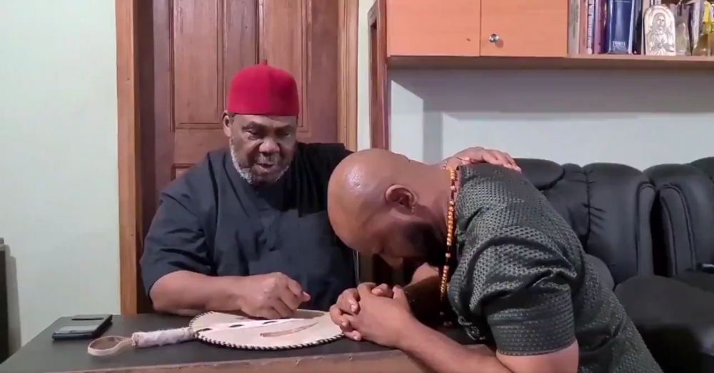 Pete Edochie and his son Yul Edochie
