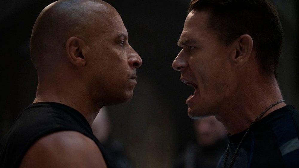 Vin Diesel and John Cena in F9: THE FAST SAGA