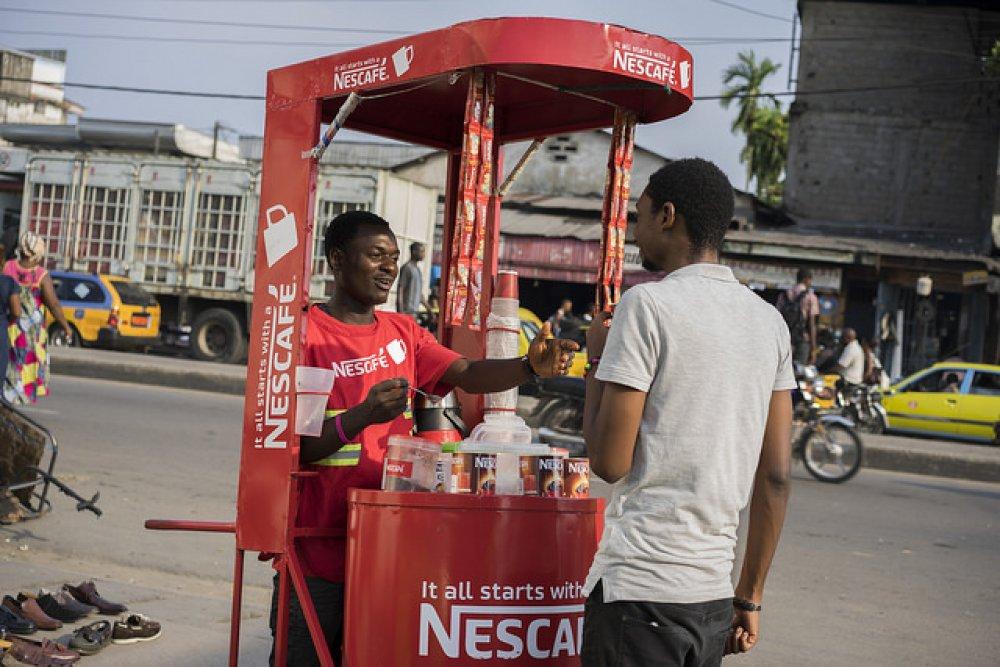 Nigerian coffee seller: