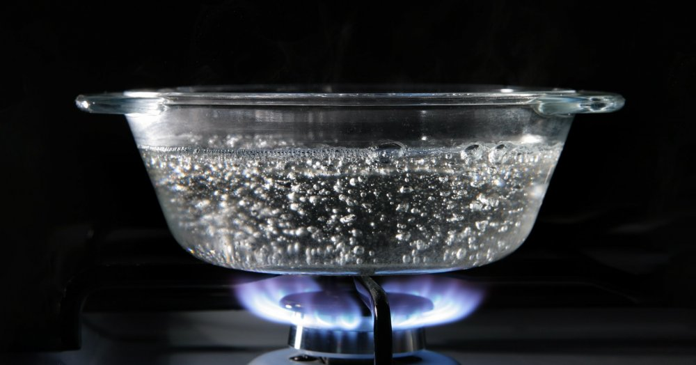 Clean boiling water