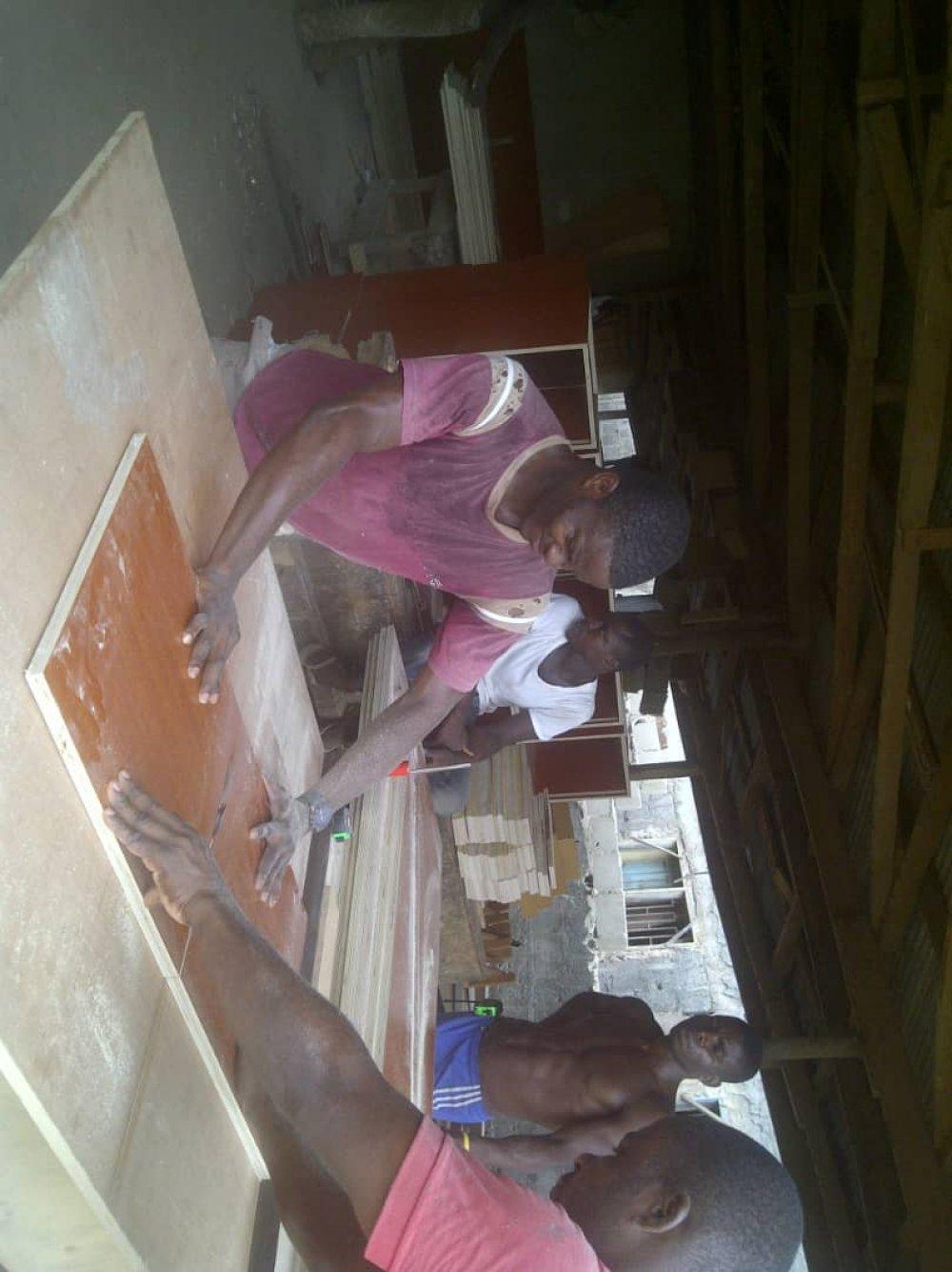 A furniture maker at work