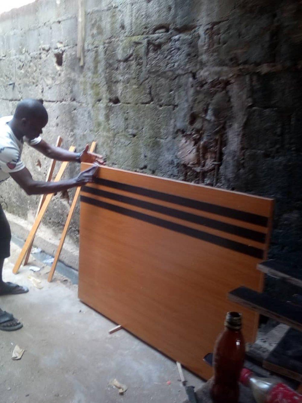 A funiture maker in Nigeria
