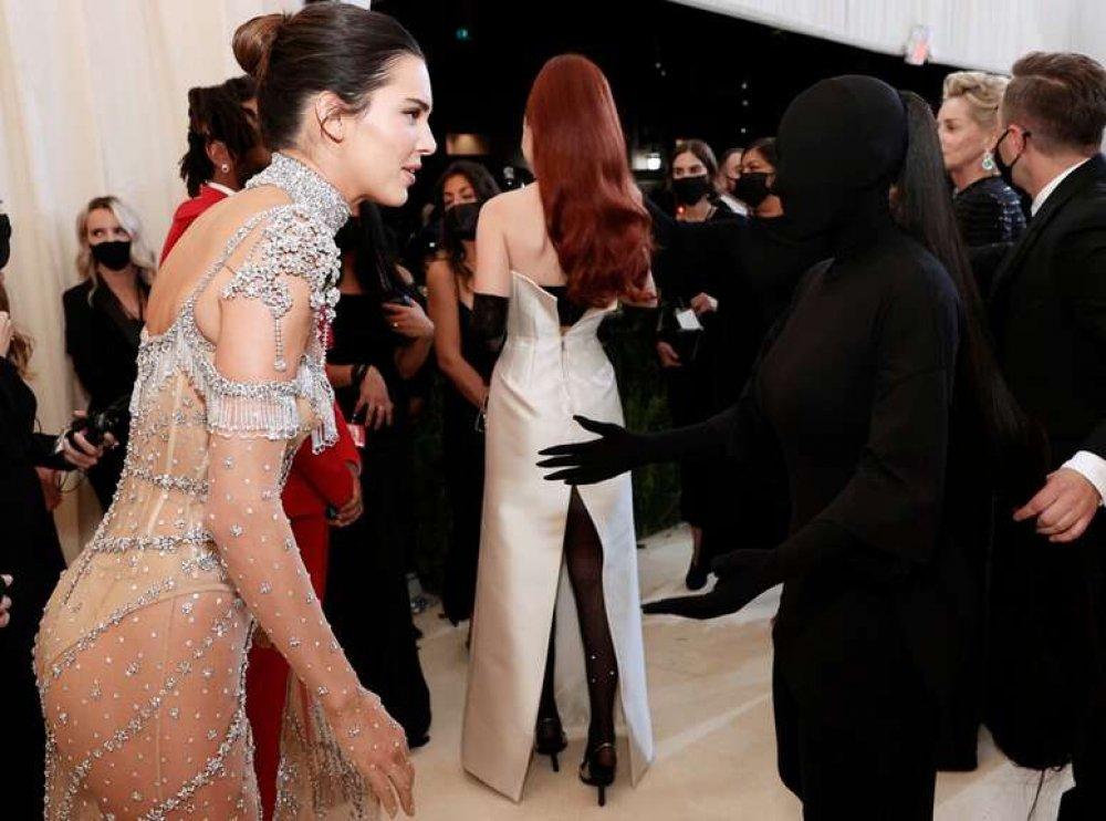 Kendall Jenner and Kim Kardashian at the event