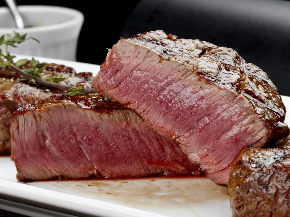 Cooked red meat